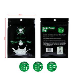 LTQ Rosin Press Bag 2 * 3 2 * 4 pollici 36 72 90 120 micron fit Vapor Rosin Nylon Sacchetti filtro a rete per macchina da stampa e-cig