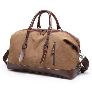 2020 canvas waterproof leisure travel bag one-shoulder messenger short-distance luggage bag portable sports fitness bag for men and women