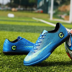 Outdoor Soccer Shoes Men Professional Turf Athletic Trainers Sneakers Outdoor Kids Football Boots Chuteira Futebol T200624