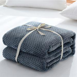 Couverture polaire adulte klobig throw Felldecke weich barbapapa Gitter Stoff Decken battaniye cobertor für Betten.