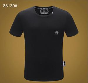 2020 Sommer Europäische und amerikanische grenzüberschreitenden ausländischen Kleidung Handels Männer runden Ansatz dünne Kurzarm-T-Shirt top @ # 8465