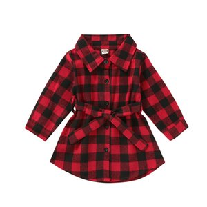 Christmas Toddler Newborn Kids Baby Girls Dress Red Plaid Cotton Princess Party Long Sleeve Dress Clothes Girl 1-5T