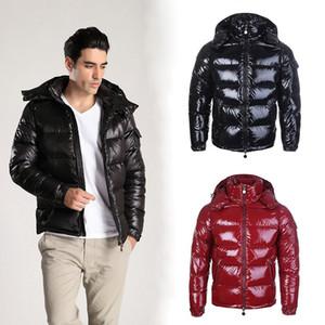 Famous Brand Mens Designer Down Jacket Homens Mulheres Alta Qualidade Inverno Jacket Parka Designer Mens Casacos de inverno Preto Vermelho