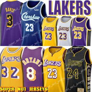 James 23 LeBron Jersey Anthony 3 Davis Earvin Johnson 32 Jerseys 0 Kuzma basketballl Jersey Crenshaw