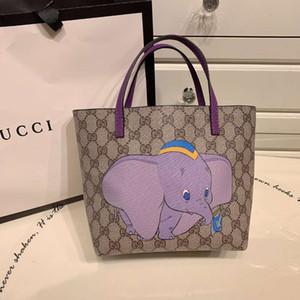 Kind Mittagessen Tasche niedlichen Tier-Design-Baby lila Elefant niedlichen Kinder Handtaschenentwerfers Marke billig Tasche Kinder Jungen Phantasie Rucksäcke 2020 neu
