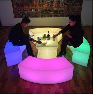 wasserdicht leuchtende bogenförmige schlange stühle kombination wohnzimmer sofa led bar möbel explosion modelle verkauf barhocker