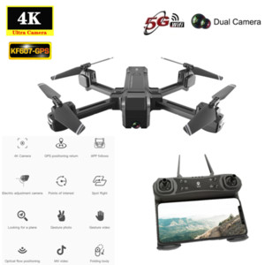 NEW KF607 GPS Drone with 5G WIFI FPV 4K HD Camera Optical Flow Following Foldable Quad copter 2.4G 1080P Camera