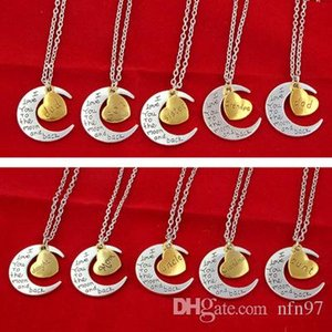 I Love You To The Jewelry Moon Love Elders name necklace Grandpa neck chain couple jewelry Lobster Clasp Hot Pendant Necklace Elders jewelry