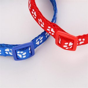 Hot Sale Adjustable Cat Collar Bell Dog Collar For Cats Dogs Collars Pets 12 Color Safety Stretch Printing Pet Supplies