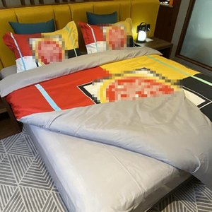 Personality Printed Bedding Comforter Fashion 3D Printed Home Bedding Sets Vintage Style Quilt Cover Suit 4PCS