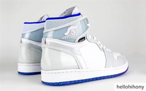 2020 New Air Authentic 1 High Zoom White Racer Blue 1S R2T Retro CK6637-104 Men Women Basketball Shoes Sports Sneakers With Original Box