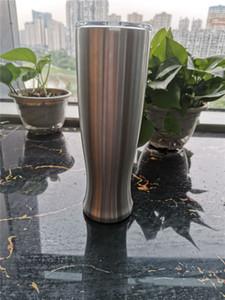 En ucuz !! 30 oz Paslanmaz Çelik pilsner Bira Cam Bardak Kahve Bira Kupa Ofis Ev Yaratıcı Kapaklı Kapaklı Vazo Fincan vakum
