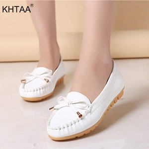 KHTAA Automne Femmes Flat Mocassins Femme Bowtie Loisirs peu profonde Glissement Casual Mocassins Femme Solide couture Flats Chaussures
