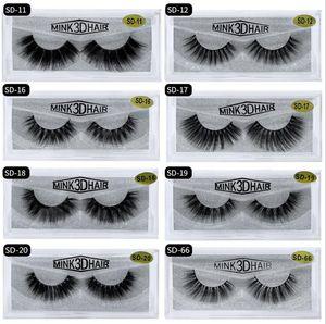 Quality 3D Mink Eyelashes Eye makeup Mink False lashes Soft Natural Thick Fake Eyelashes 3D Eye Lashes Extension Beauty Tools 20 styles DHL