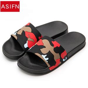 ASIFN Pantofole Uomo Camo Home Scivoli Bagno Estate Stile Casual Scarpe Sandali antiscivolo Sapato Masculino Infradito