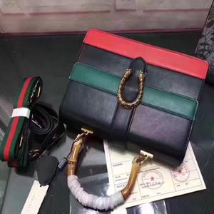 Nuovo colorblock mucca designer di lusso di moda in vera pelle Satchel borsa autentica qualità signore totes borse di marca Drop Shipping