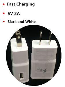 Haute qualité 5V 2A EU / US Adaptive mur Voyage de charge rapide Chargeur Accueil Adpater pour Samsung S5 S6 S7 Note 4 Note 5 N7100