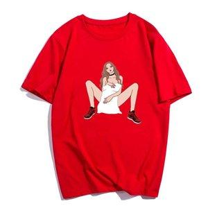 E-Baihui 2021 Trend Смешные футболки Мужчины и женщины с короткими рукавами Футболка Футболка Футболка Hiphop Любители одежды Уличная одежда BF Watter Tshirt