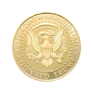 Donald Trump Moneta Commemorativa metallo presidente degli Stati Uniti Collection Eagle monete America del National Flag Souvenir EDC Distintivo Craft Oro Colore 2 3yn C1