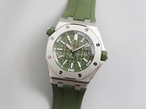 JF new 15710ST military green series senior men watch 42mm 3120 automatic movement luxury mens watches designer watches