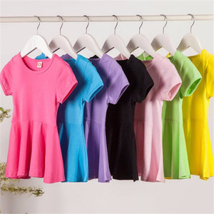 1-6 Years old Kids Pure Cotton Dresses for Girls Summer Dress Baby Princess Short-sleeve Children Clothing