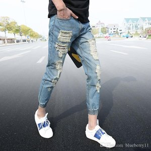Skinny Jeans Mens Personality Rock Style Jean Hole Pant Casual Jeans Distressed Jeans Denim Pants Joggers For Men 28-34