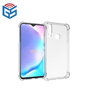 Para Vivo Y17 Crystal Clear Phone Case Anti Choque Borda Projeto transparente macio TPU tampa traseira para Vivo S5