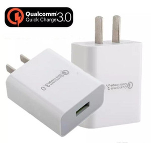Carga rápida adaptador de alimentación de CC 3.0 estadounidense de doble viaje USB cargador de pared para el iphone 11 Pro Samsung S7 S8 S9