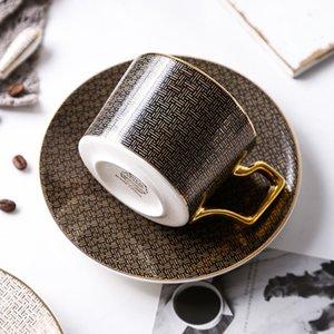Porcelana de alta calidad del café express tazas de té platillo conjunto único y tazas de café placas taza de cerámica del vaso reutilizable té Copos Tazas Regalo E8
