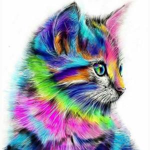 5d diy elmas boyama renkli sincap karikatür hayvanlar kedi mozaik elmas nakış çapraz dikiş dikiş el sanatları dekor