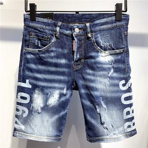 Designer Short Jeans Mens Moda Verão Brand Jeans Casual Shorts Mens Distressed rasgado Jean Motos de luxo Denim Shorts T 2020739K