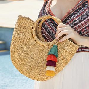 Regalo variopinti di Boho della nappa di Keychain del sacchetto chiave creativo simpatico ciondolo portachiavi catenaccio Gioielleria New Fashion