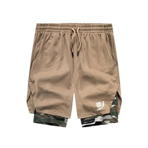 Sommer-Kurzschluss-Mann-Mode Camouflage Patchwork Sporting Fitness Shorts Training Mens Bodybuilding Fitnessstudios Männer kurze Hosen Sportwear