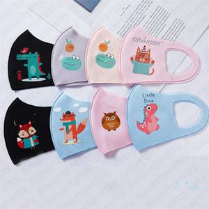 Enfants éponge masque Lavable De Protection Visage Masques réutilisable de bande dessinée masque bouche moufle Enfants Garçons Filles bouche couverture PM2. 5 brume masques E32001