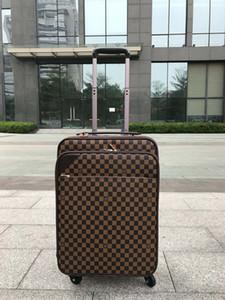HOT bagagem de alta qualidade quatro rodas Trolley curso homens saco mala bagagem de mão para mulheres Tamanho: 58 * 37 * 19cm