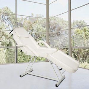 Waco Beauty Salon Spa Spa Massage Tattou de tatouage Chaise de table de tatouage, Dual-Usage Équipement portable Pliante, Blanc