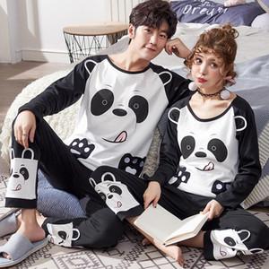 Nouvelle hiver coton pyjamas Couples manches longues col rond Homme de nuit Femmes Pyjama Pijama Pyjama Pyjama hommes Homewear