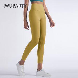 IWUPARTY vita alta Pantaloni Yoga Booty Scrunch Sport Leggings con tasche in nylon elastico Collant palestra donna Abbigliamento sportivo Fitness