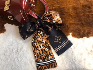 Fashion Design sciarpa della stampa floreale Tie Sciarpa di seta Donne sciarpa capa di marca Handle Bag Nastri Piccolo Sciarpe