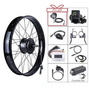 Bafang 48V 750W Arka Hub Motor Fırçasız Tekerlek Tahrik Elektrikli Bisiklet Dönüşüm Kitleri 20' 26 inç kaset Fat Bisiklet / Snowbike için