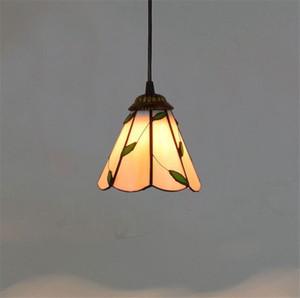 Американский ретро отель лист художественное стекло лампа Неторопливо сельский стиль Тиффани витражи небольшой люстры TF004