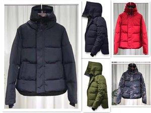 Goose Down com capuz quente de alta qualidade New Inverno Canadá Homens jaqueta verdadeiro lobo homem Fur Windbreaker outerwear jaquetas do homem
