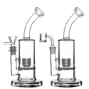 Bongo de vidro duplas bongs Cachimbo de vidro filtro tigela Hookah com tubulações de água filtro fumadores acessório na shippin free