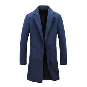 겨울 코트 새로운 패션 디자이너 긴 남성 코트 가을 겨울 방풍 슬림 트렌치 남성 플러스 사이즈 JS0068