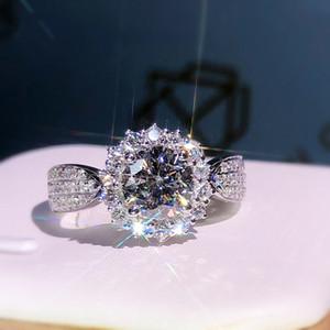 100% 18K 750Au ouro Moissanite anel de diamante D cor VVS Com certificado nacional MO-H100103 S200110
