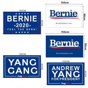 États-Unis Président campagne drapeau imprime Donald Trump bannière Biden Andrew Yang Sanders Andrew 2020 Décoratif Drapeaux pour en plein air 12wfb E1