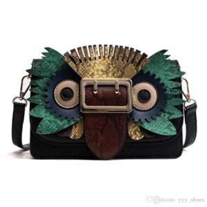 2019 새로운 스타일의 패션 디자이너 여성 올빼미 가방 어깨 가방 럭셔리 크로스 바디 플랩 클러치 가방 혼합 색상의 가방 1을 토트 핸드백