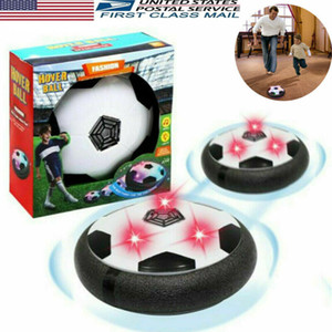Air Power Football Toys for Boys LED Hover Disk Soccer Ball Toy 3-8 Year Old Baby Kids Xmas Gift Electric Play Sport Game