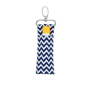 DISPONIBILE! Holder Chevron Rossetto Chapstick portachiavi Lip Bag Monogram Colori Multi Chevron Key Lip Palm Holder