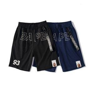 Pantalones para hombre de los pantalones cortos de Bape moda para hombre tiburón impresión cortos de verano playa corta de alta calidad chándal pantalones tamaño M-XXL